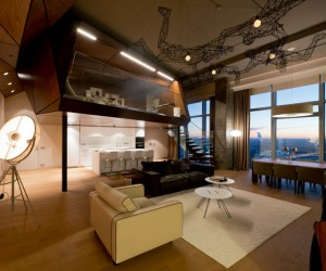 Spectacular penthouse in Moscow: the Birdman's nest apartment