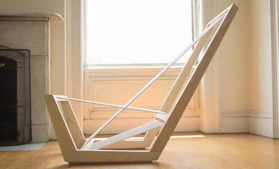 Minimalist lounge chair by Josh Shiau