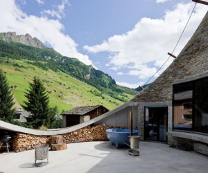 Ground breaking ideas! Underground mountain house, Switzerland