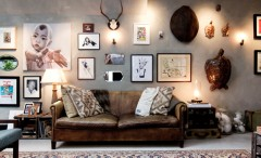 Eclectic style living room design