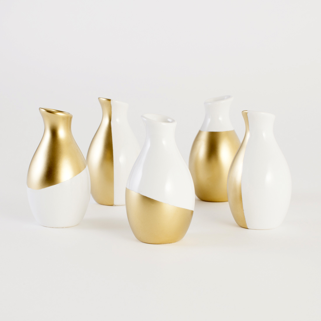 How to make gold-dipped vases