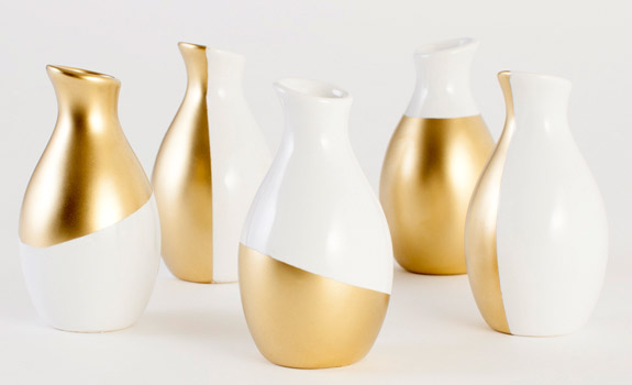 Making Gold Dipped Vases At Home Adorable Home