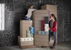 Playing with the modular LEGO contemporary kids furniture range