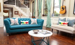 Bright living room decor