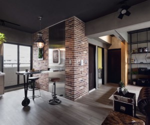A stylish bachelor pad: industrial style apartment in Taiwan