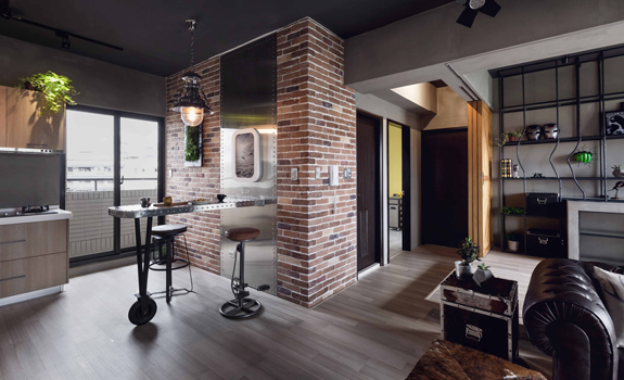 Stylish Bachelor Pad Industrial Style Apartment