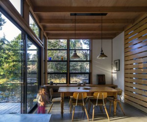 Modest home in the woods that captures the imagination
