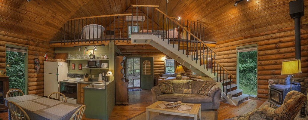 Inside the Log Cabin by Candlewood Cabins
