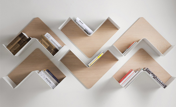 Fishbone Modular Shelving System - demo