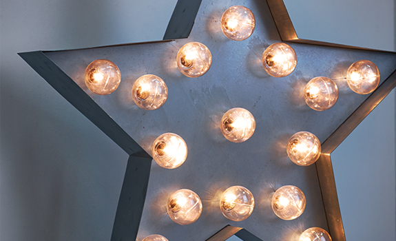 Industrial style lighting - star