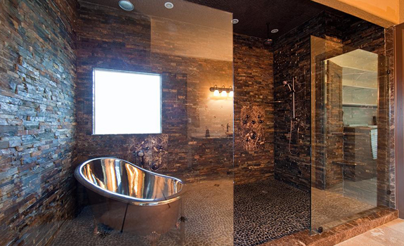 Modern walk in shower design