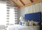 Elegance in grey and blue country lodge interiors