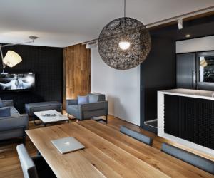 "The sleek interiors of ""The Love Apartment"""
