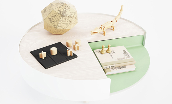 Contemporary Coffee Table From Polit - view from above