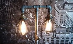 The Steampunk Industrial Style Table Lamp