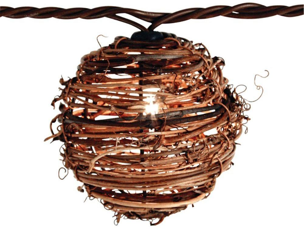 Rattan Ball String Lights
