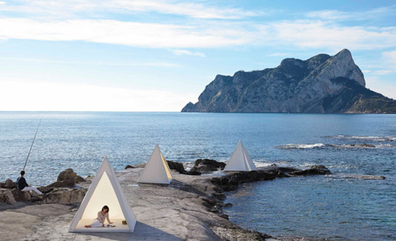 Pyramid Shaped Tent