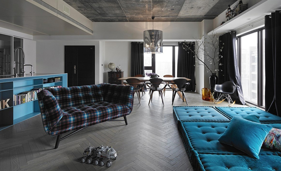 Stylish industrial apartment