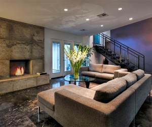 Concrete Fireplaces that Sizzle and Stir a Living Room Up!