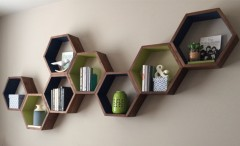 Honeycomb Geometric Bookshelves