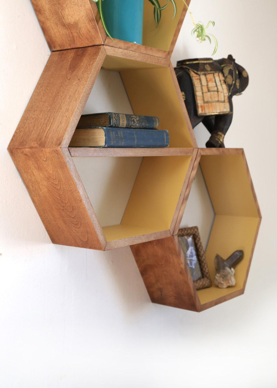 honeycomb by bookshelf tickled inspirations ladder urban