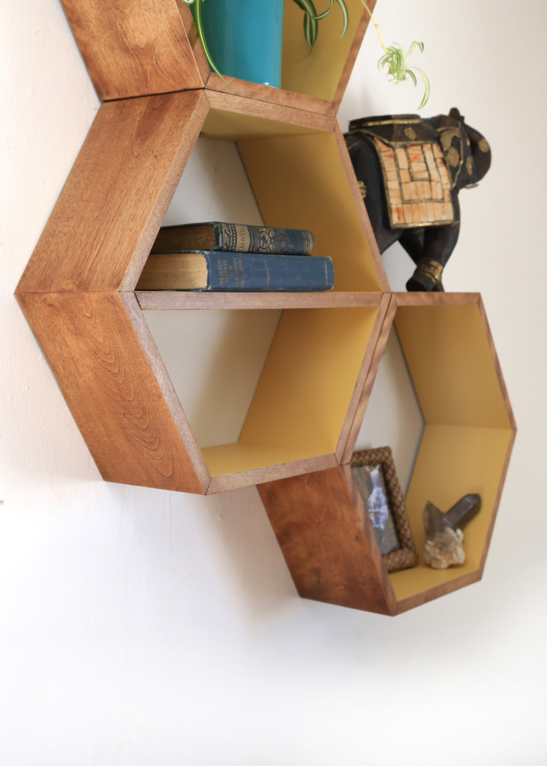 Honeycomb Geometric Bookshelves (4)