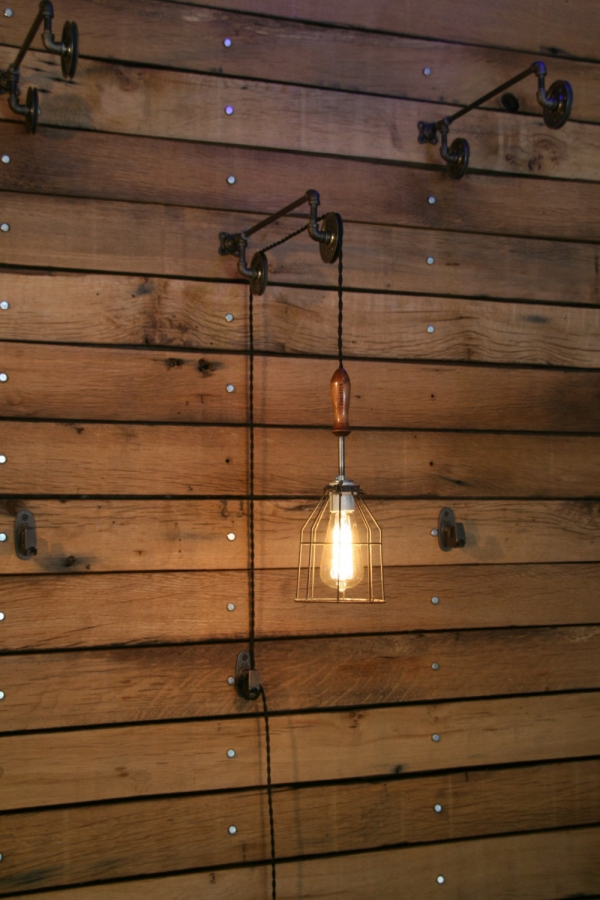 Pulley Mounted Industrial Wall Lights u2013 Adorable Home