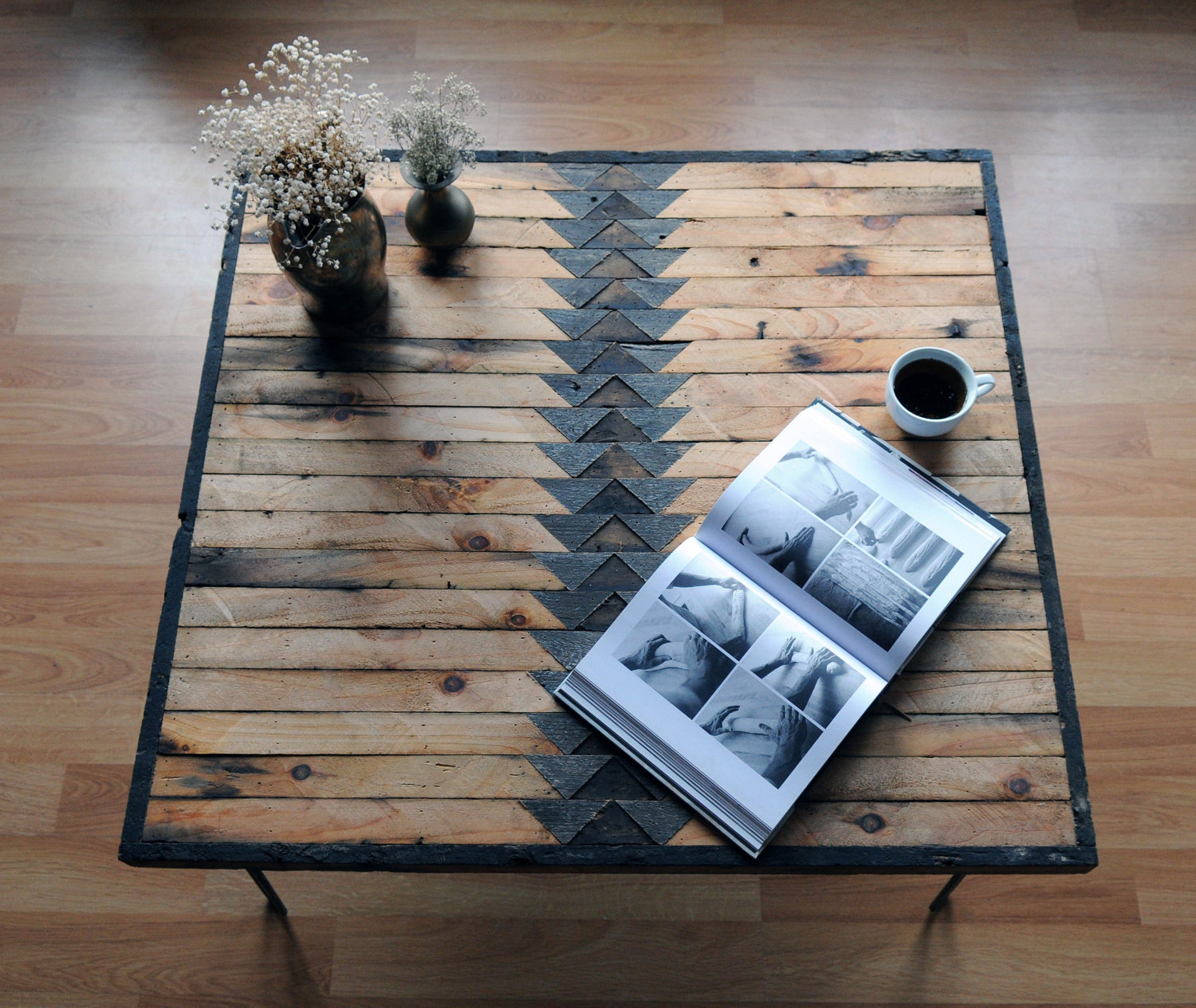 Reclaimed Wood Coffee Table - entire view