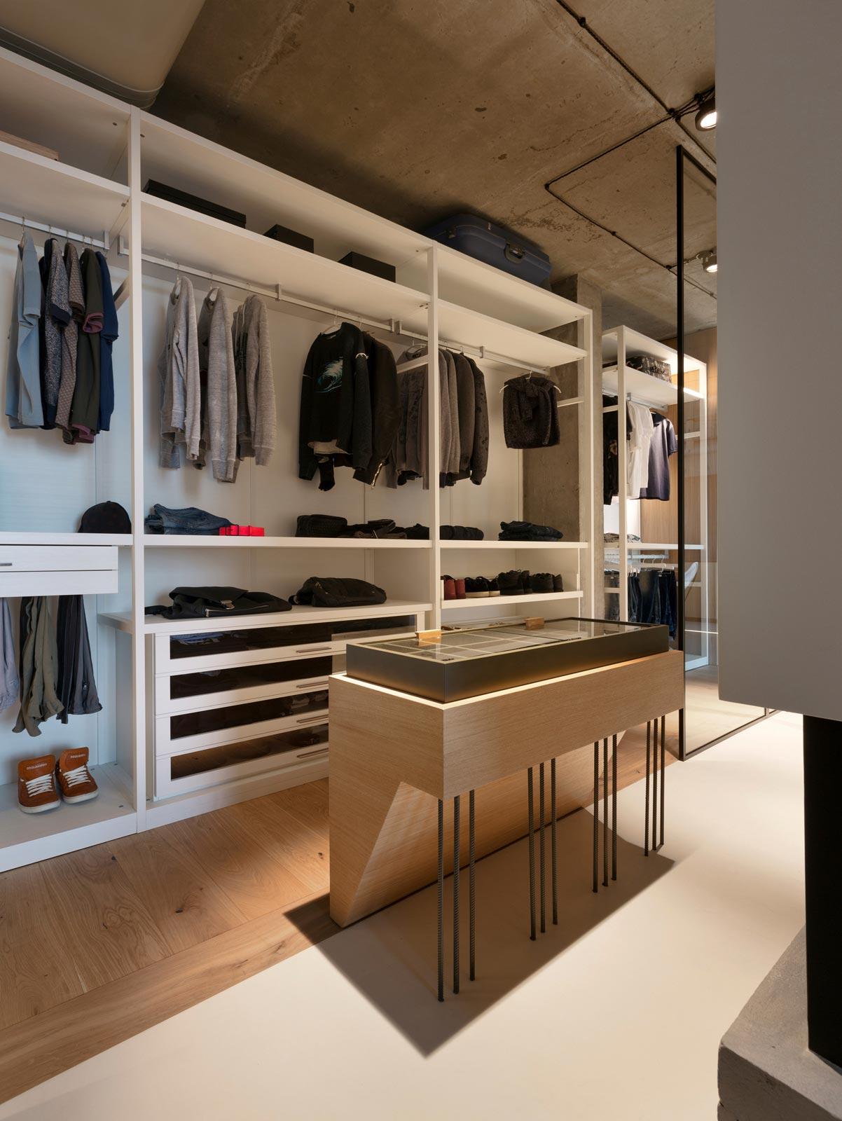 Modern men's closet