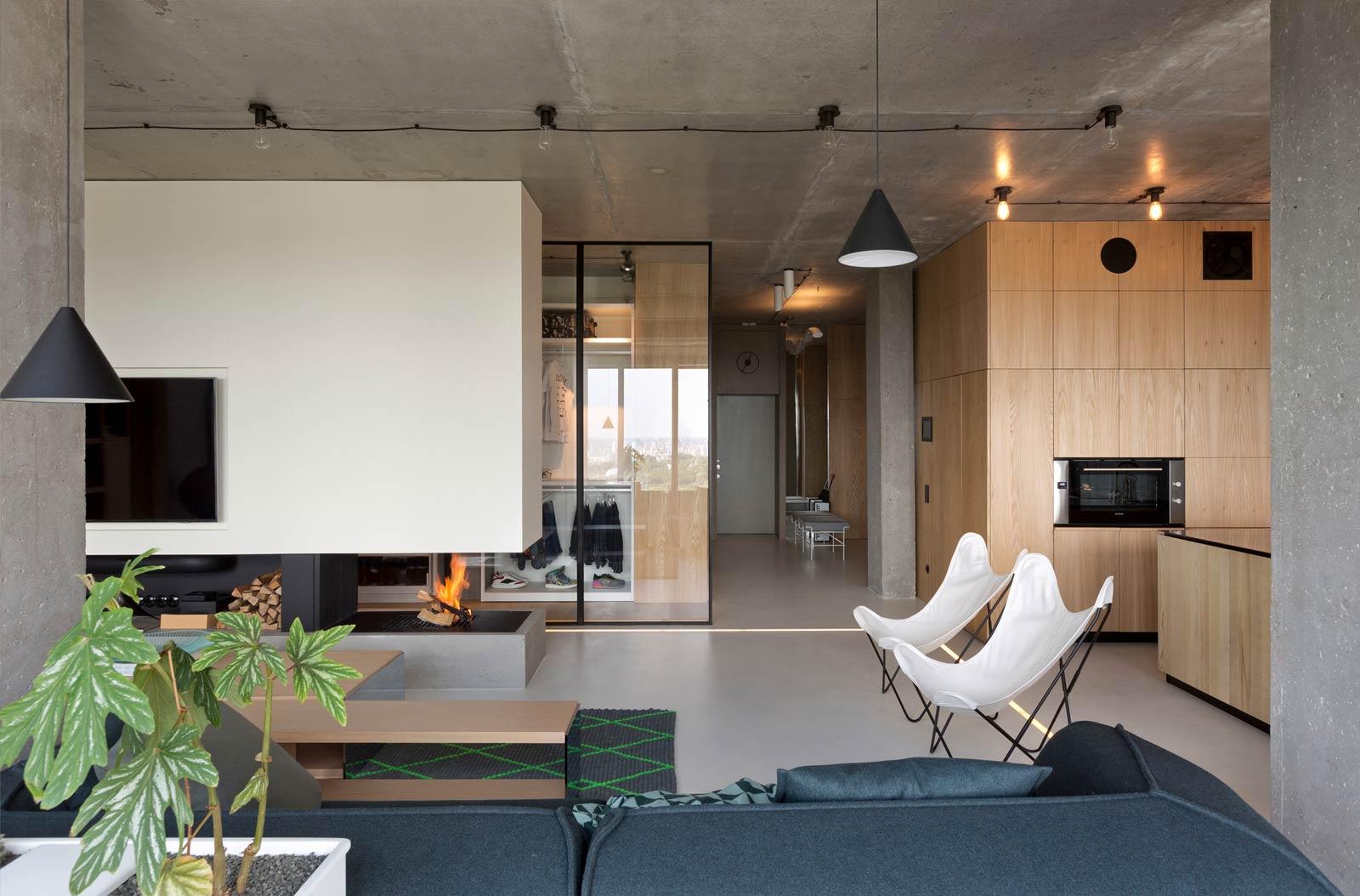 White Fireplace Wood Walls