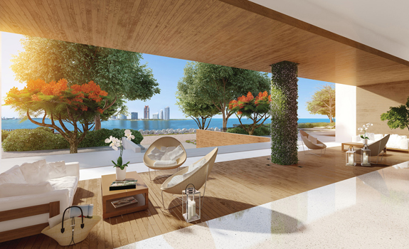 Lobby in a luxury building