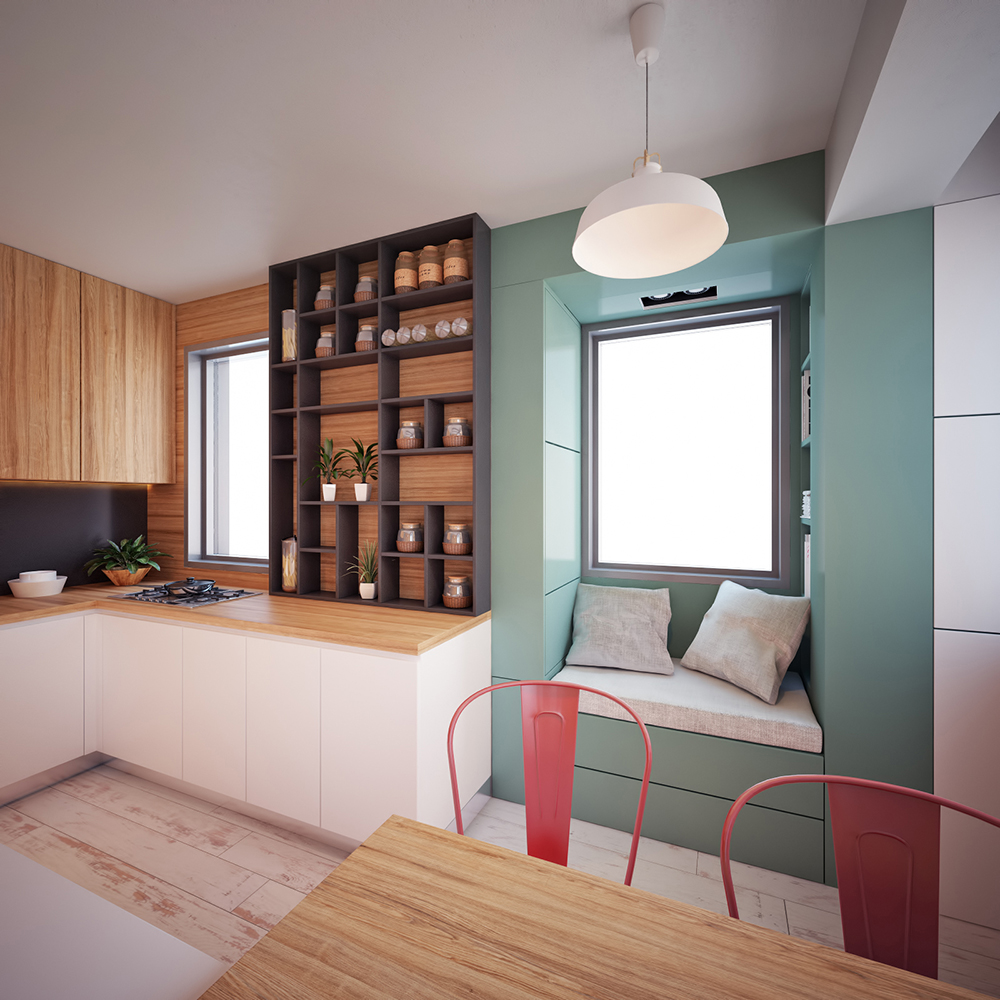 Modern tiny apartment in macedonia adorable home - Interior design onsquare meters solutions from taiwan ...