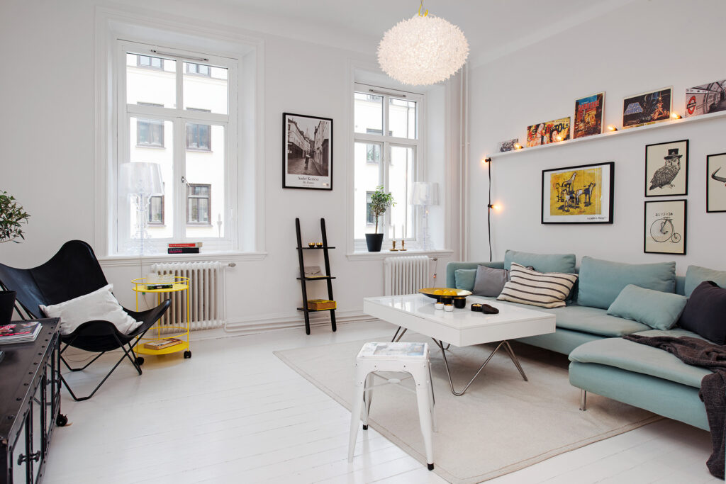 A Scandinavian style living room