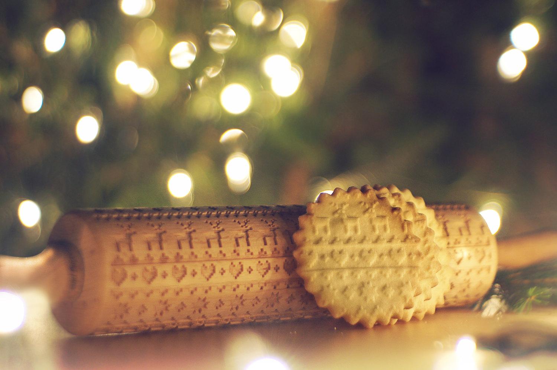 Christmas rolling pin