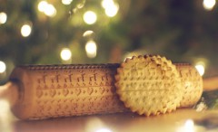 Christmas Pattern Rolling Pin for cookies