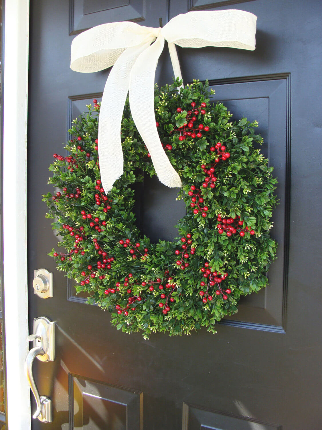 Front door christmas wreaths - Front Door Christmas Wreath