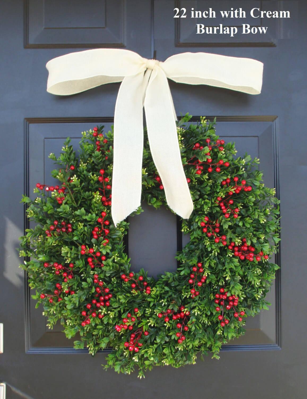 Christmas wreath with a bow