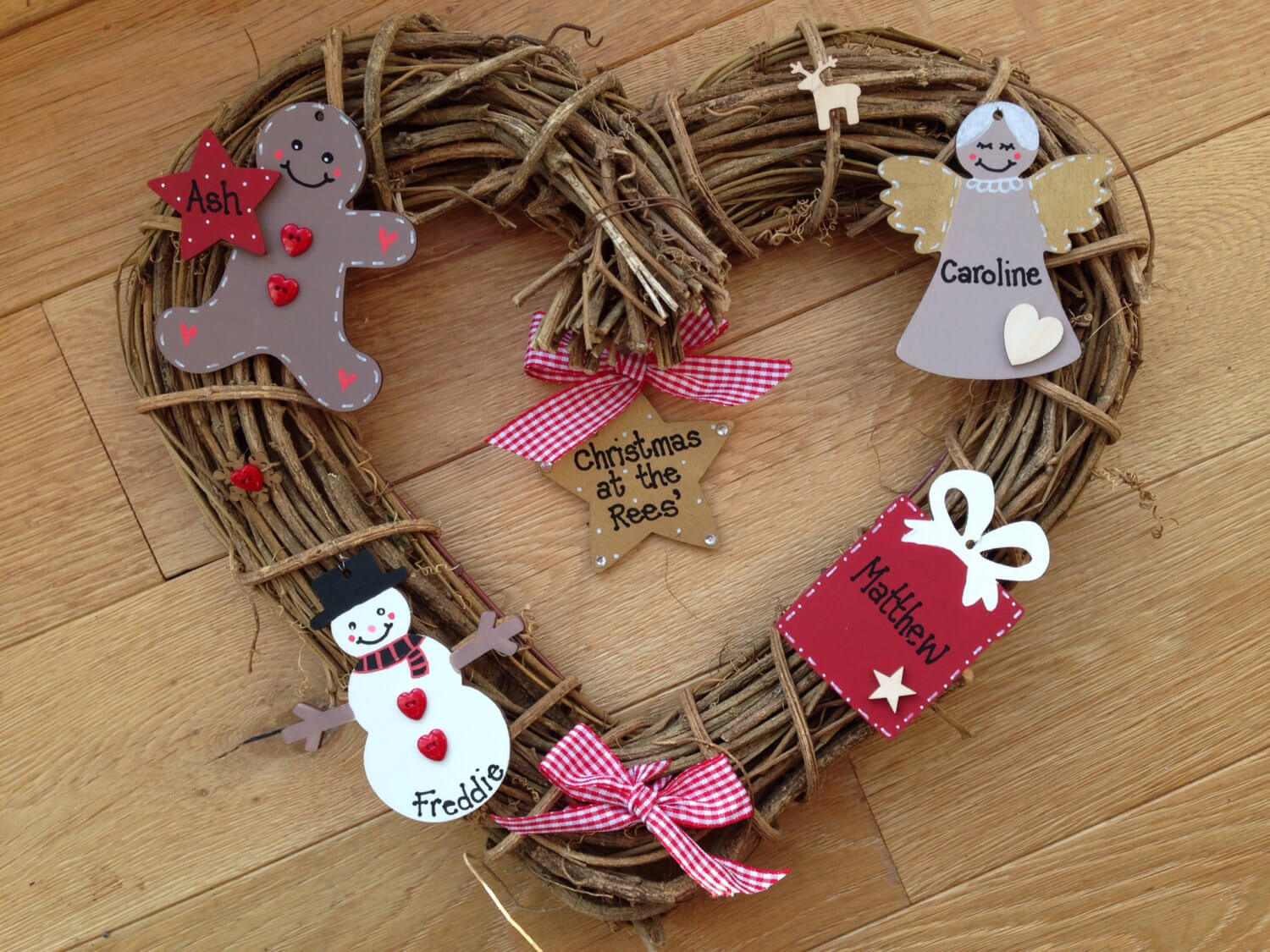 Christmas Wreath in the shape of a heart