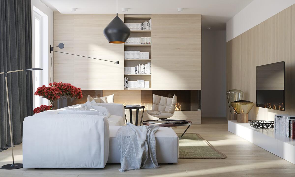 Modern sleek living room design