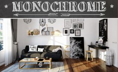 Monochrome Scandinavian apartment