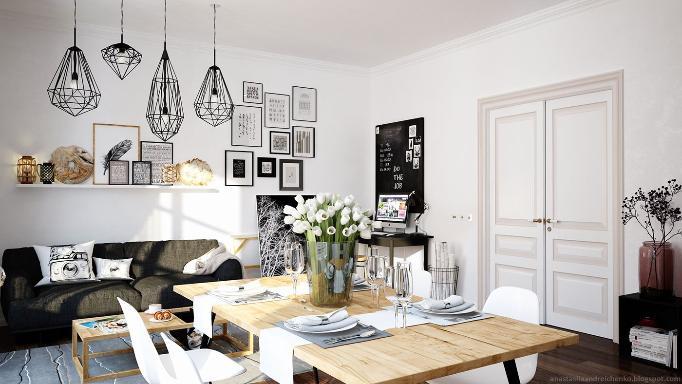 Delving in monochrome interior design adorable home for Pictures of interior designs