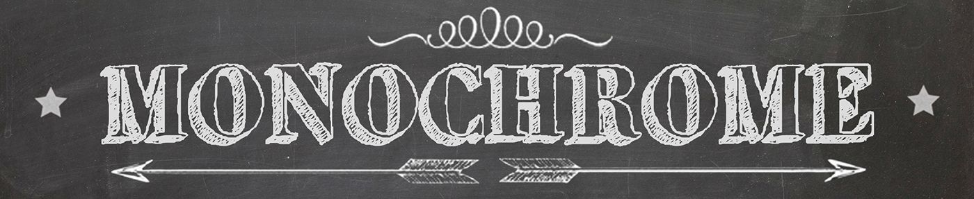 Monochrome chalkboard label