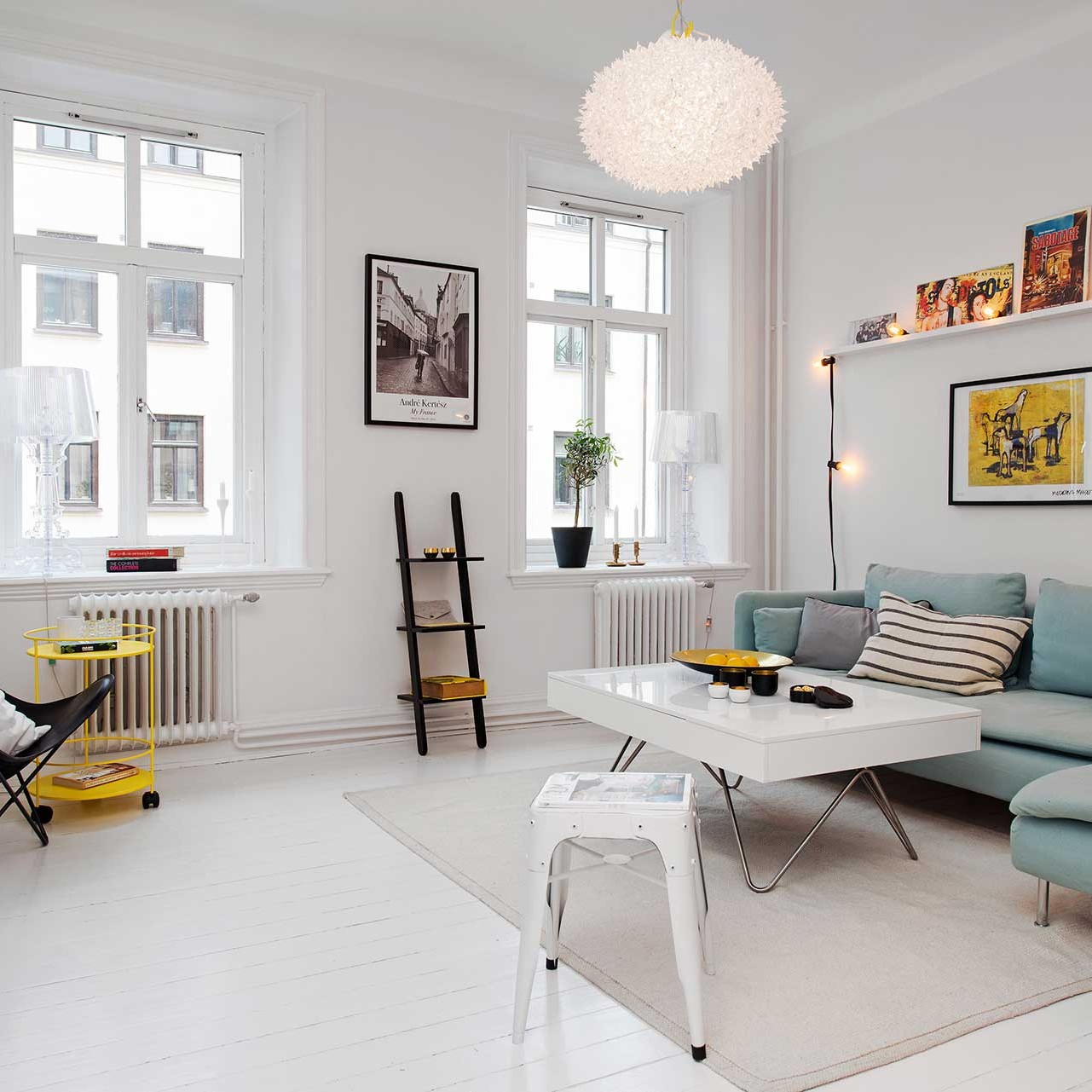 small scandinavian apartment is big on impressions