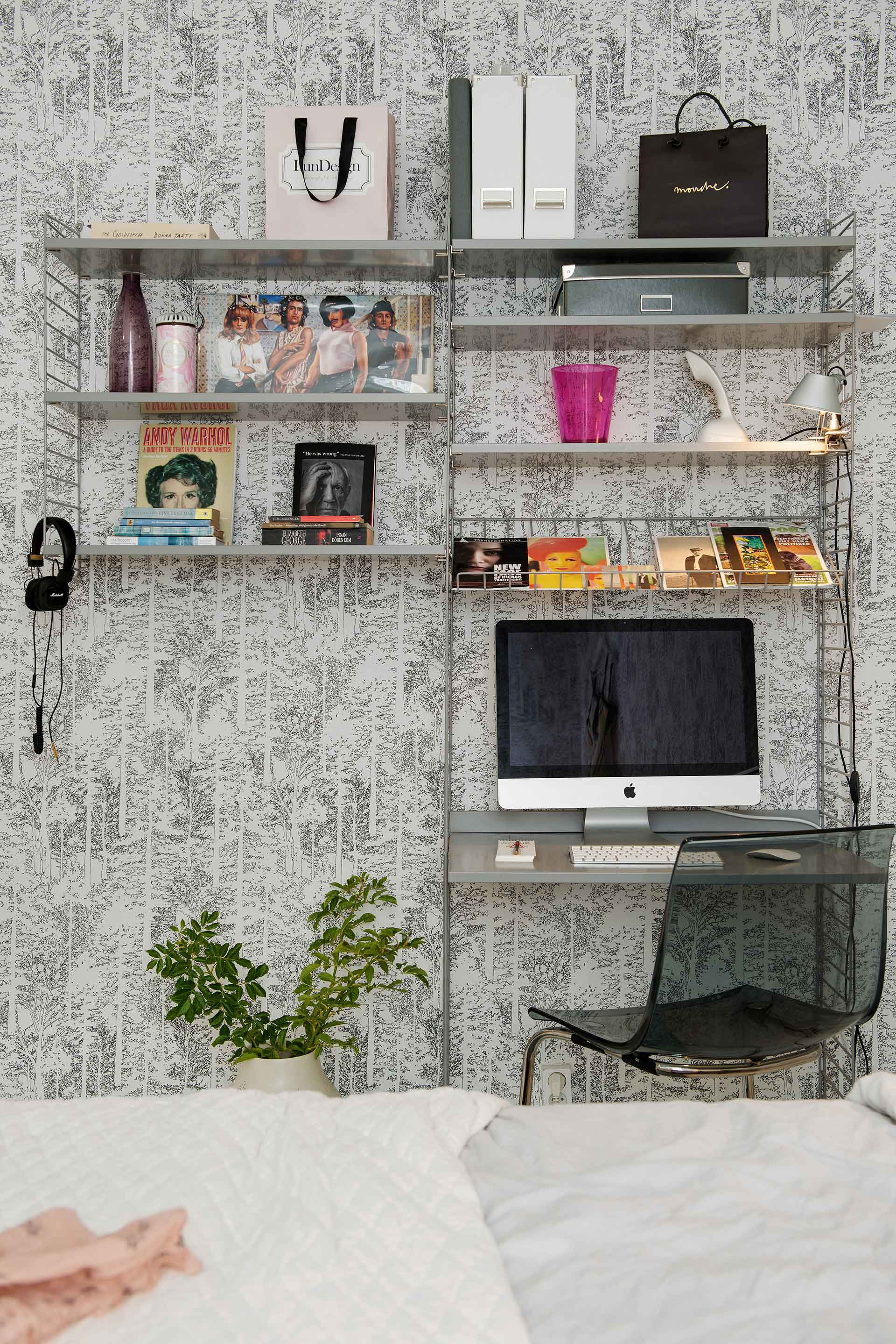 Small home office in the bedroom