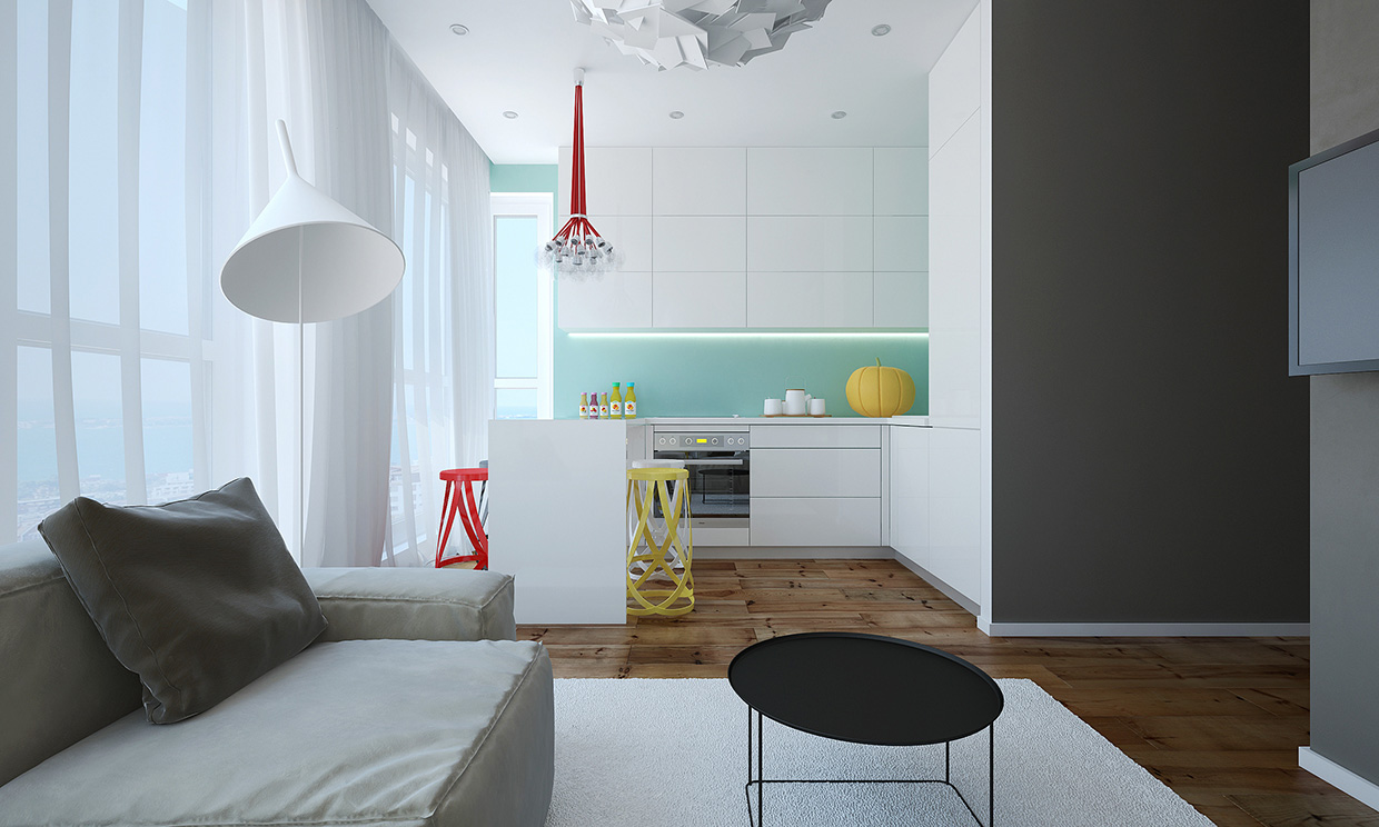 Modern small apartment design in bulgaria adorable home for Home interior for small flats