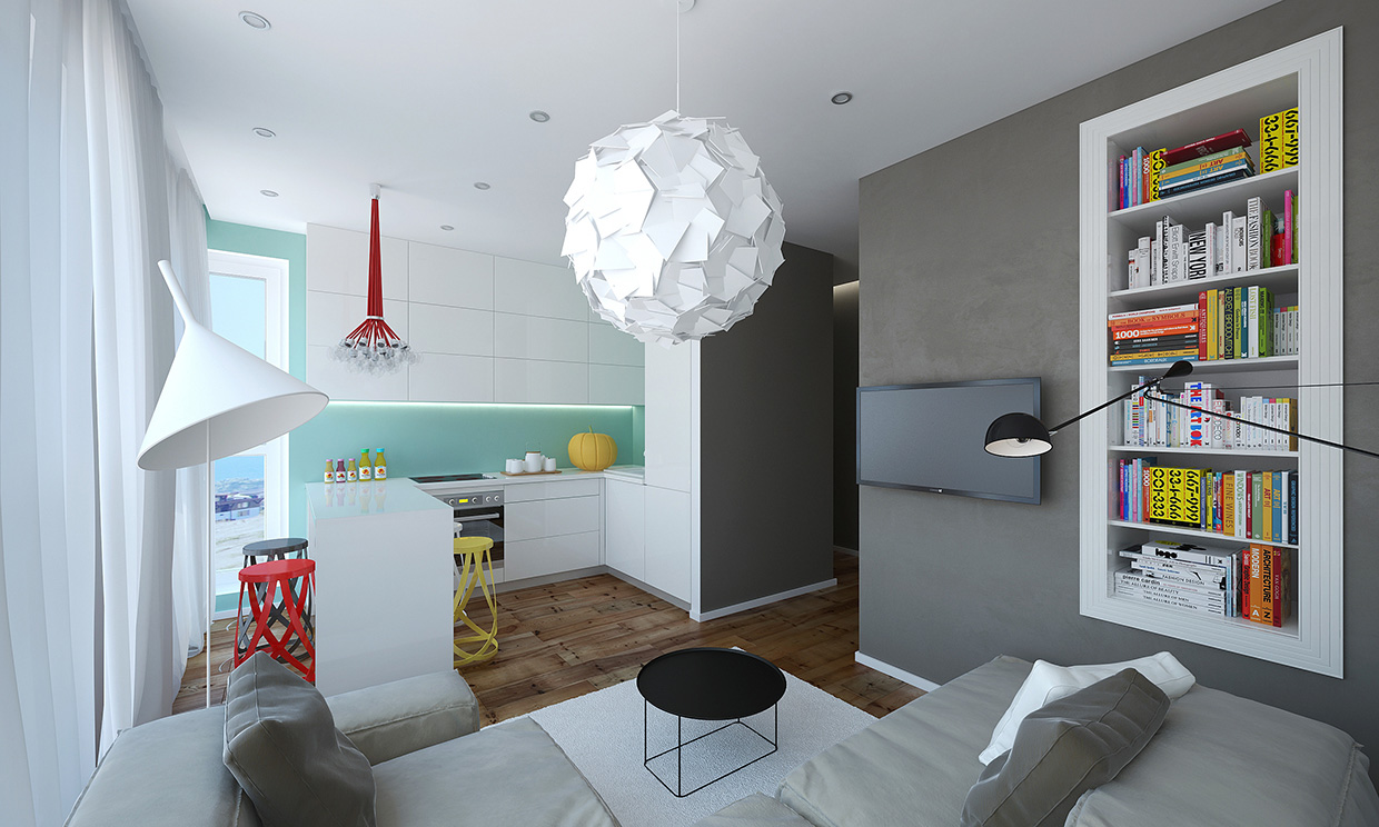Modern small apartment design in bulgaria adorable home - Modern apartment interior design ...