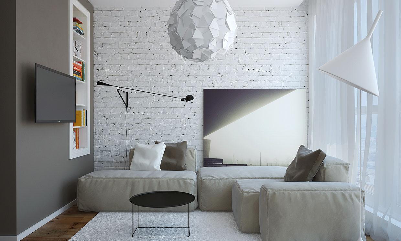 Modern living room rendering