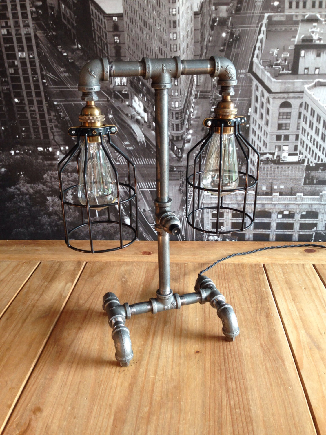 The Steampunk Industrial Style Table Lamp Adorable Home