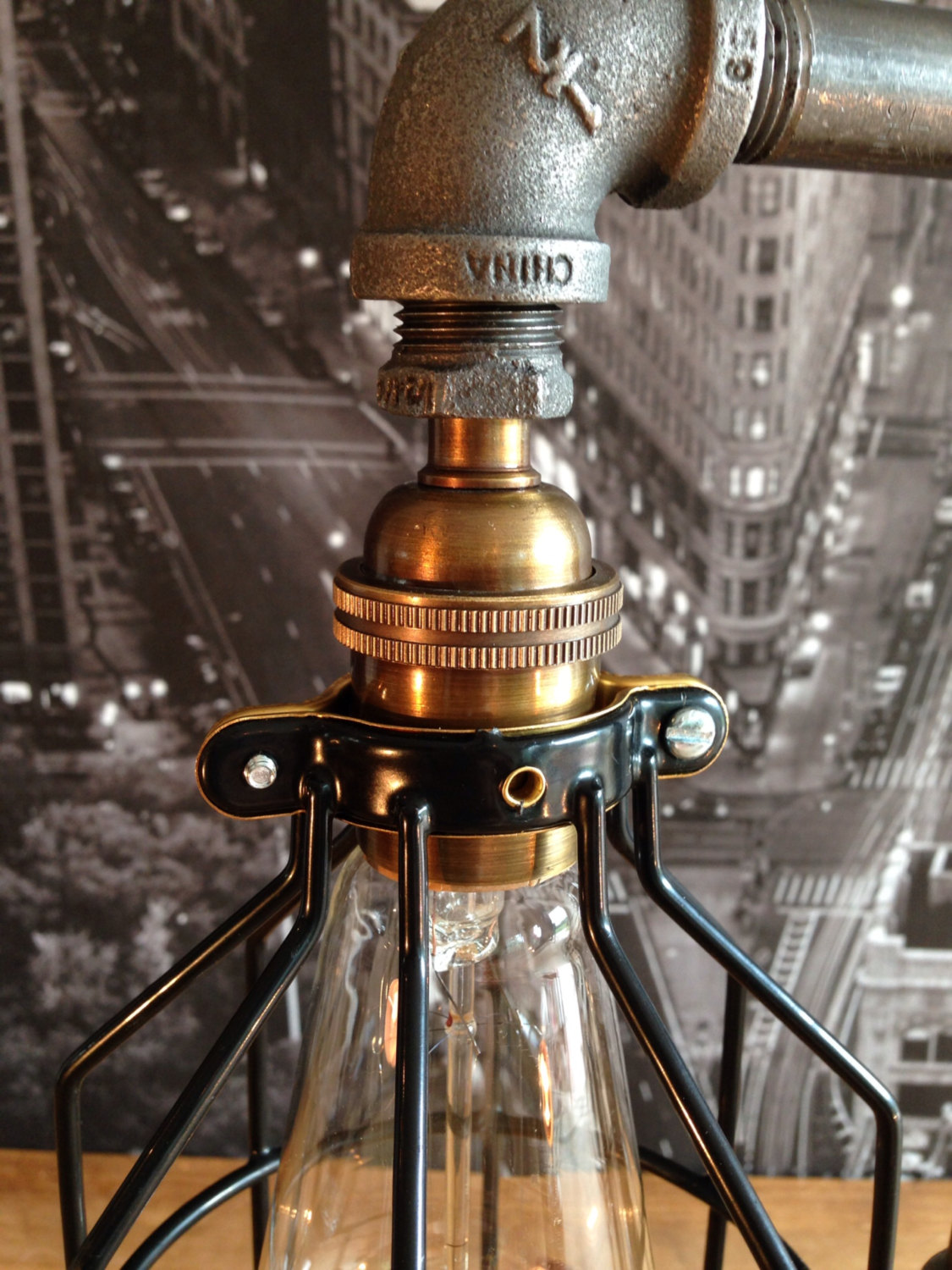 The Steampunk Industrial Style Table Lamp - The Steampunk Industrial Style Table Lamp – Adorable Home