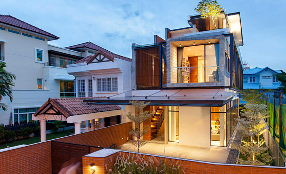 Modern semi detached house in singapore